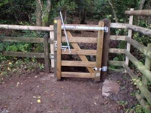 New gate on a footpath near Murchington, Throwleigh